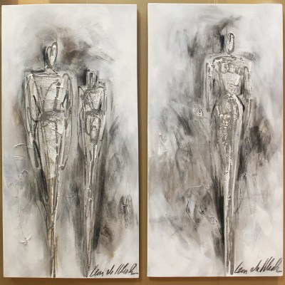 Leon De Klerk white human figure abstract