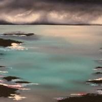 painting of seaside scene