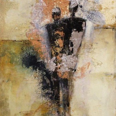 abstract painting of human figures