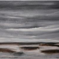 painting of dark skies scene