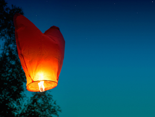 Image result for single sky lantern