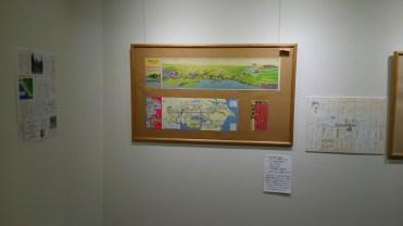 京成線沿線案内図。稲毛駅近隣の西登戸駅やみどり台駅の名前は以前は千葉海岸、浜海岸だったようです。
