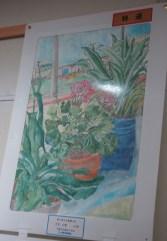 千葉市立磯辺小学校6年大木さん「窓に見える風景と花」