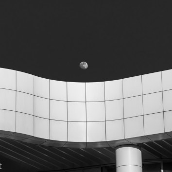 Moon over Getty