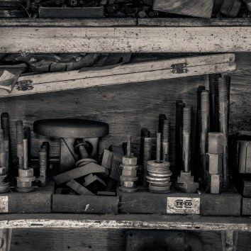 Sugar Cane Train Workshop Shelf, Maui 2018