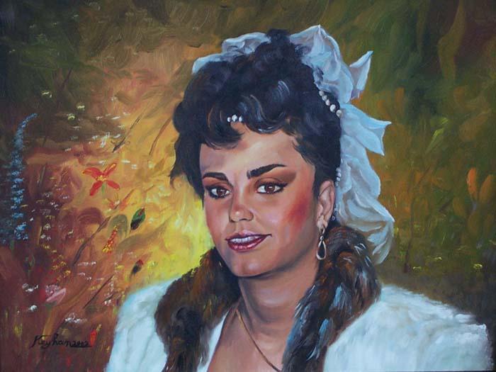 Mitra Professional oil portrait