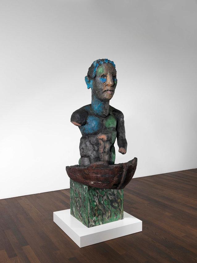 Markus Lüpertz, Odysseus II, 2014, Bronze bemalt, 232 x 86 x 140 cm