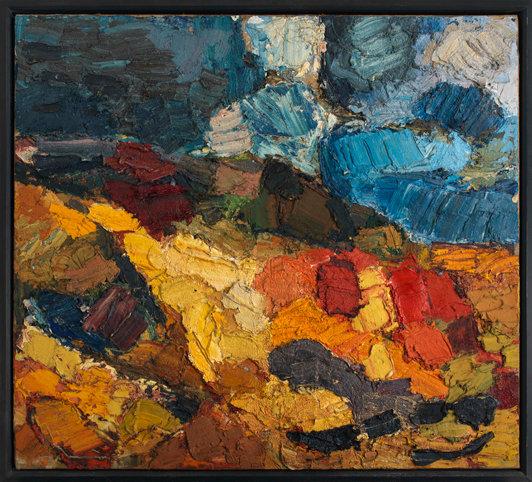 Franz Grabmayr, Sandgrube, 1968, Öl auf Leinwand, 129 x 142 cm