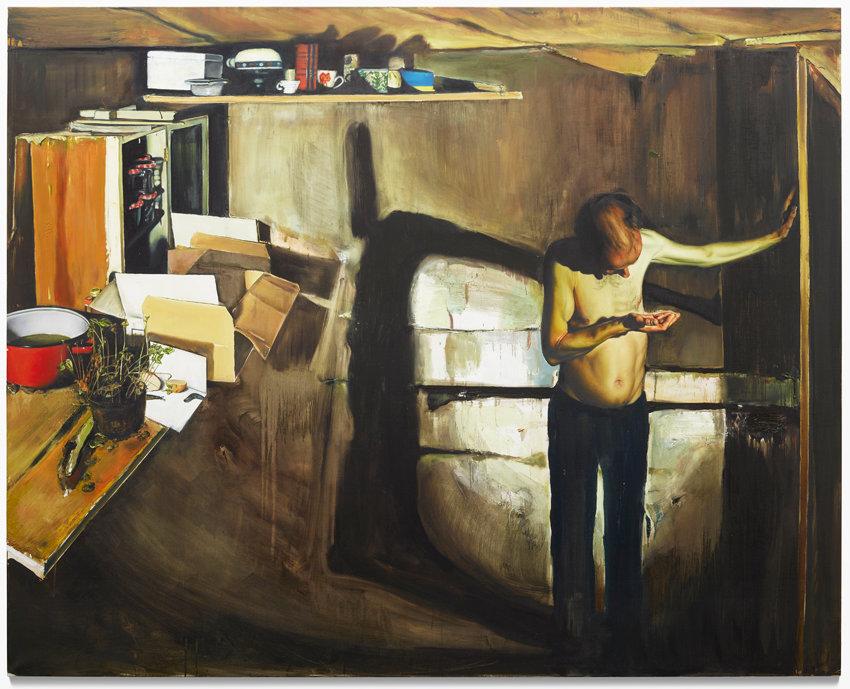 Léopold Rabus, La perte d'une dent (Der Verlust eines Zahnes), 2015, Öl auf Leinwand, 241 x 300 cm