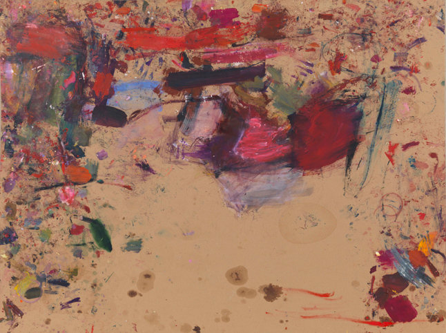 Martha Jungwirth, ohne Titel, aus der Serie ,Fundraising, 2013, Öl auf Papier, auf Leinwand kaschiert, 143 x 189,5 cm