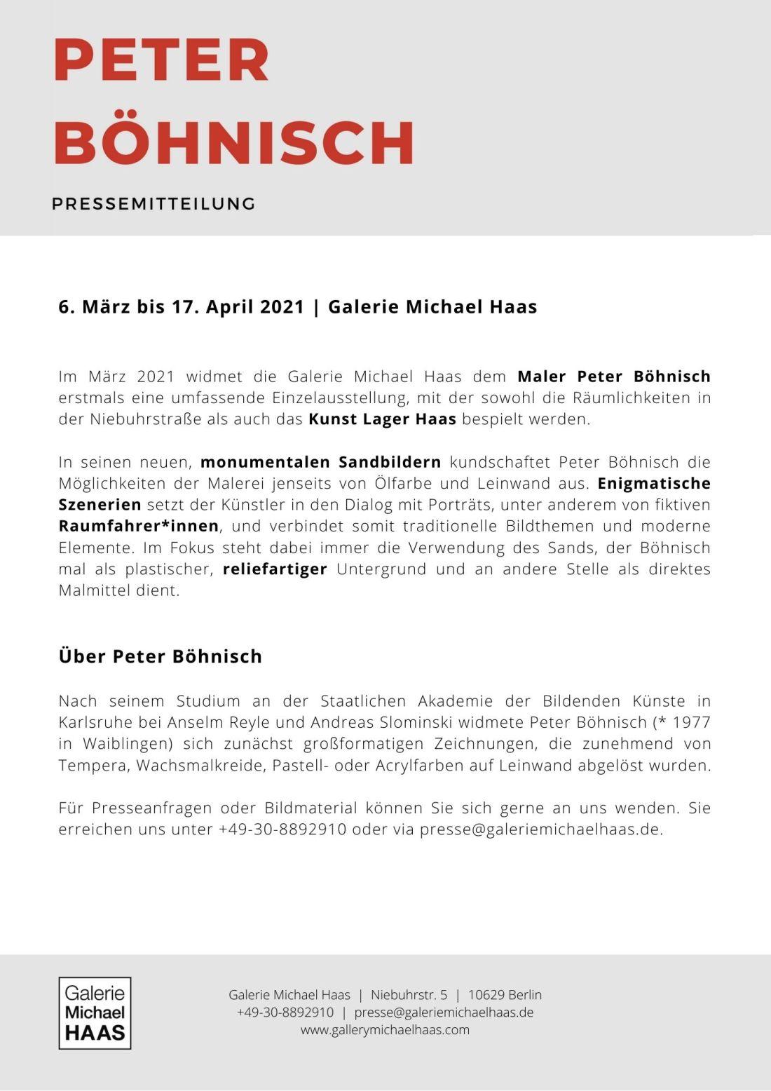 Pressemitteilung Peter Böhnsich