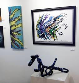 Lori Salts/Alias (left), Mark Coyle (right, sculpture)