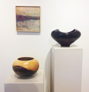 Jan Fox (encaustic painting), Mark Entzminger (turned wood)