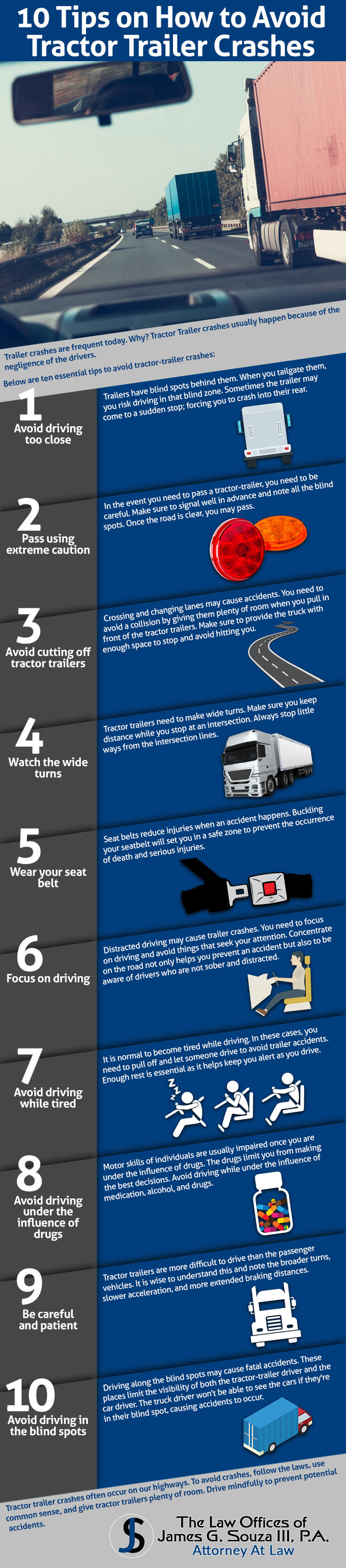 10 Tips On How To Avoid Tractor Trailer Crashes