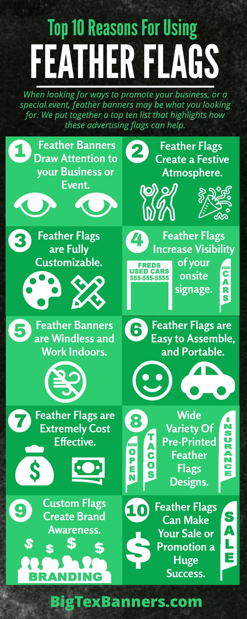 Top 10 Reasons for Using Feather Flags