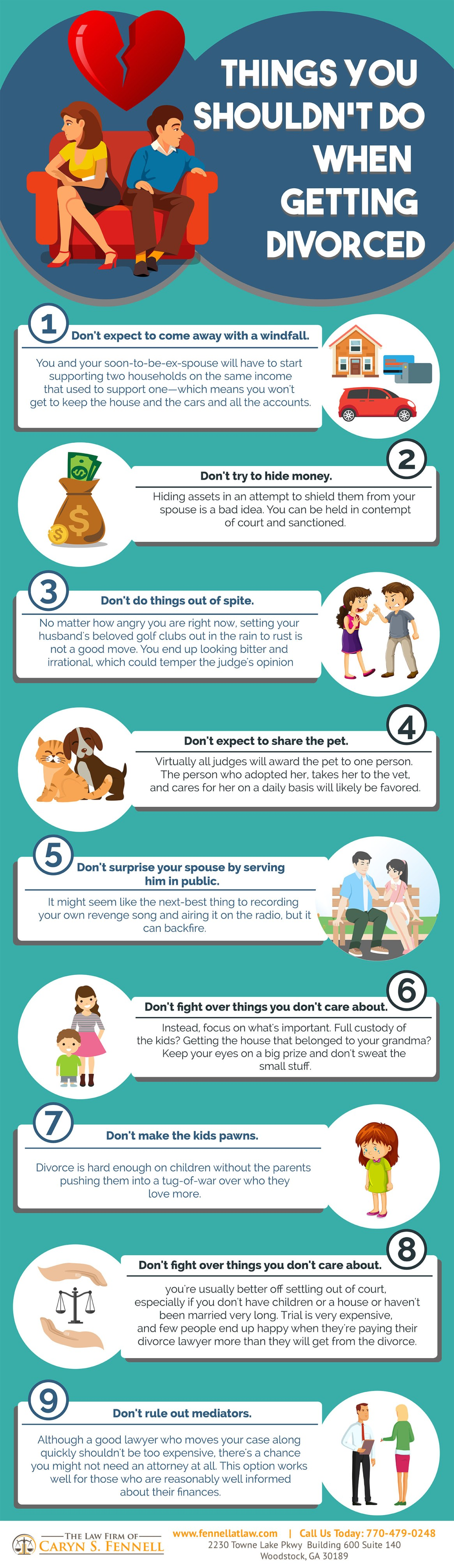 What Not to Do During a Divorce