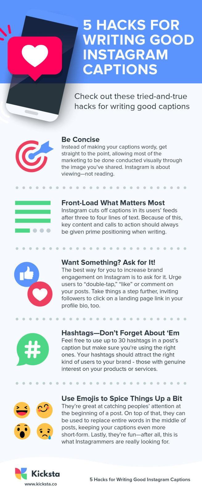 5 Hacks for Writing good Instagram Captions