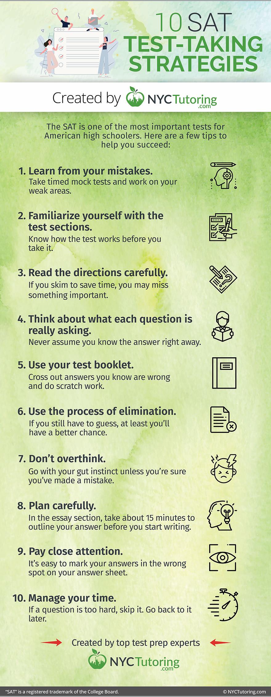 10 SAT Test-Taking Strategies
