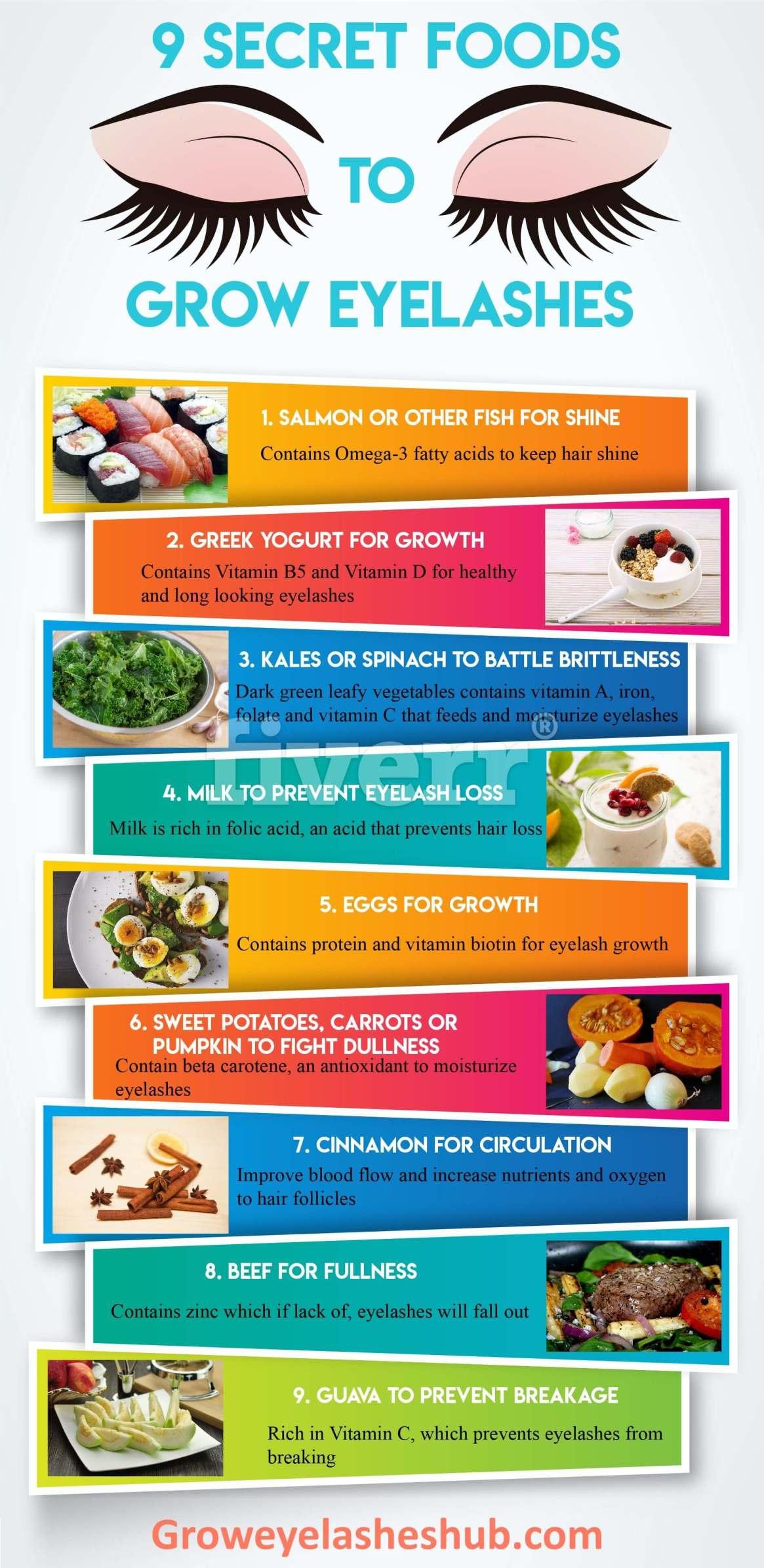 Best Foods for Eyelash Growth