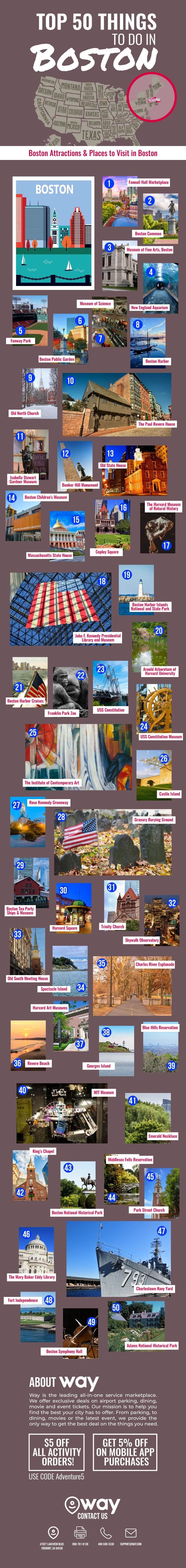 Top 50 Things to Do in Boston
