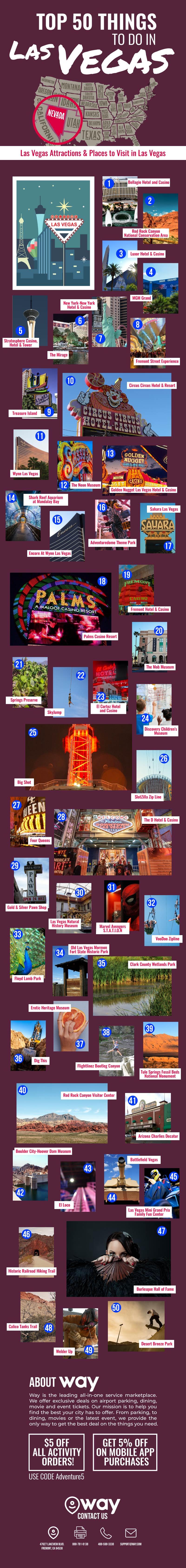Top 50 Things to Do in Las Vegas