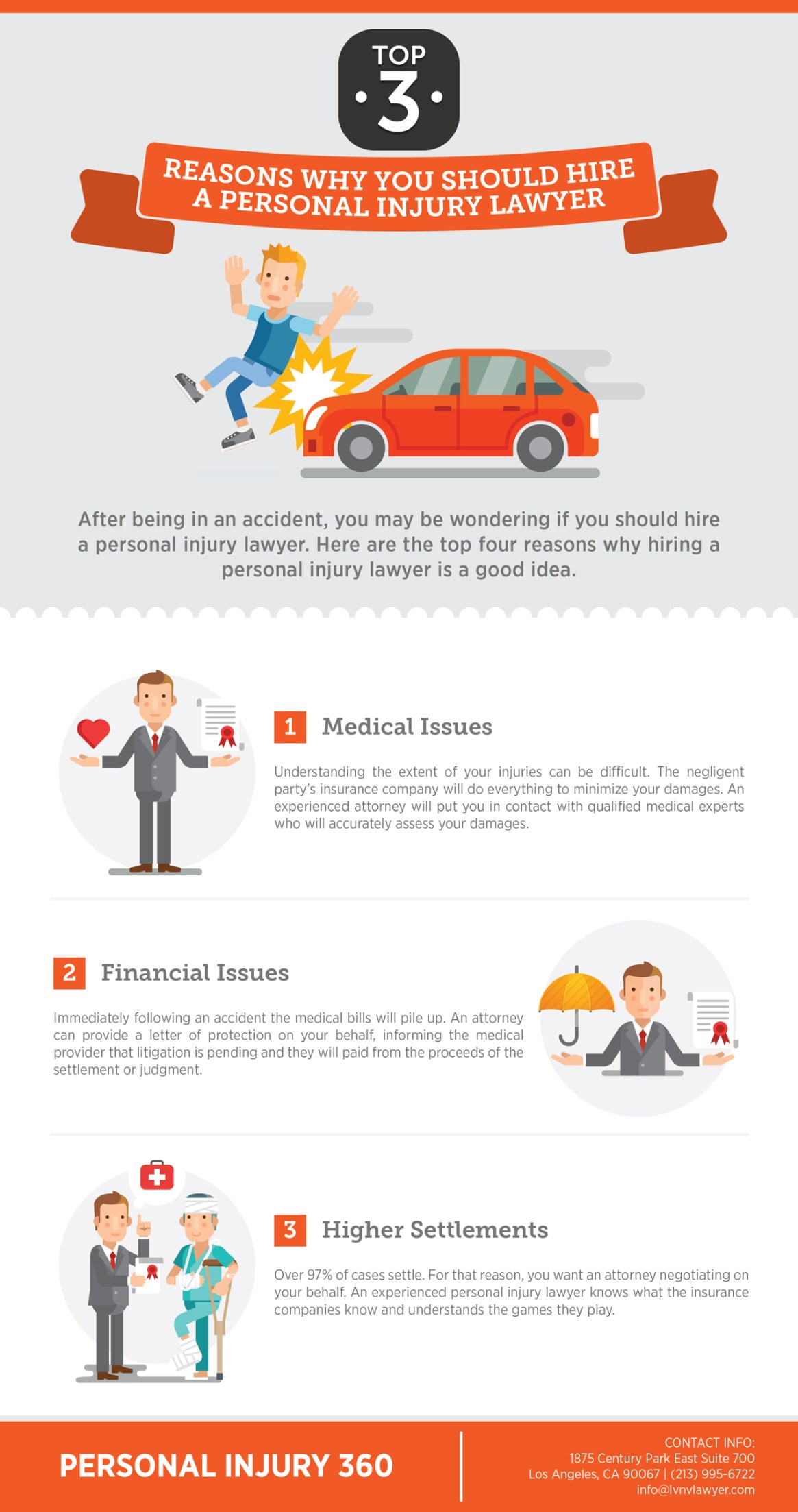 Top 3 Reasons Why You Should Hire a Personal Injury Lawyer