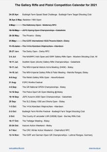 GRP 2021 Calendar of Events