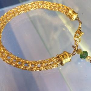 Viking Knit Bracelet in Brass