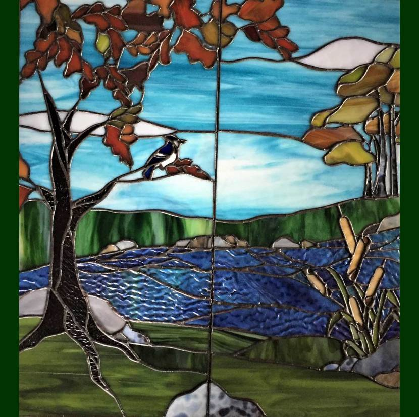 Completed custom stained glass