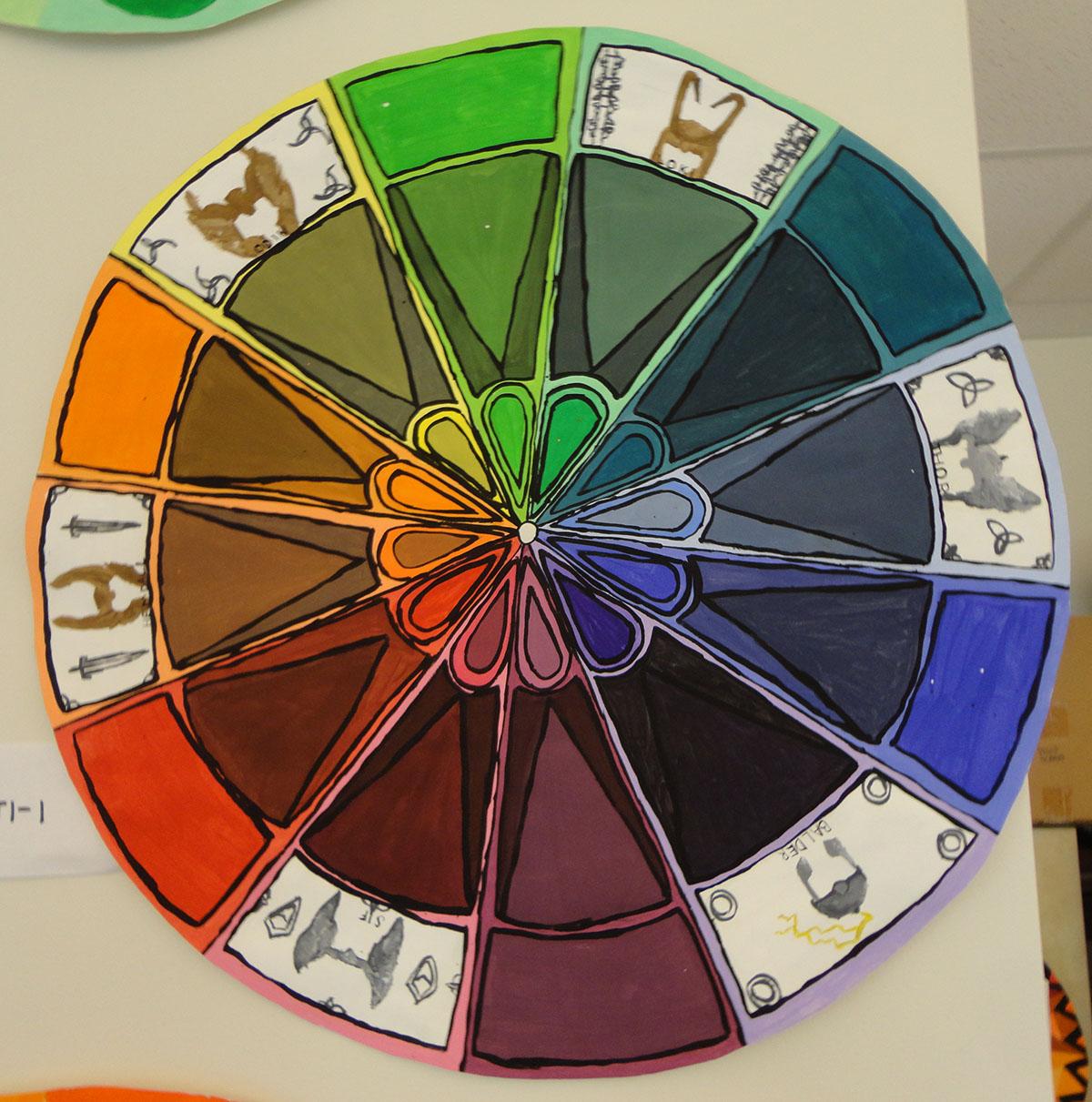 Color Wheel Mandalas Art 1