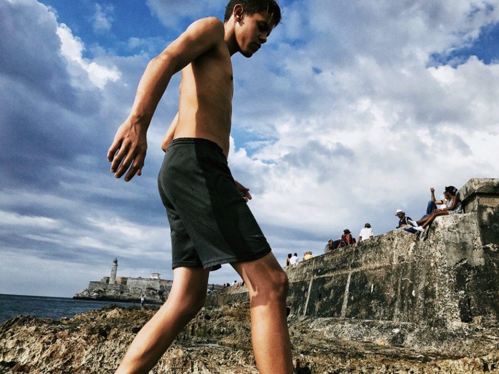 malecon daki yüzücü