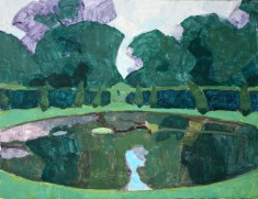 The Ring Pond, Chatsworth 35 x 75 cm