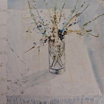 Jane Skingley 'Blue Flowers, White Cloth'