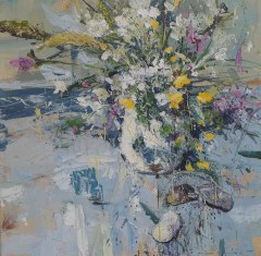 The wild ones of summer.50x50cm plus frame - acrylic on Canvas - £1495.00JPG