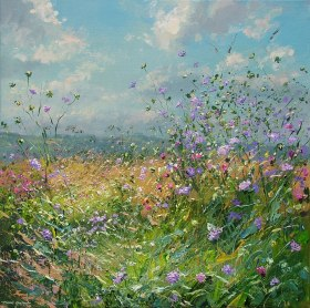 Grasses and Wildflowers, Bonsall Moor 24x24-2