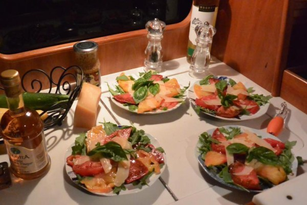 11 tomatoes on arugula with shaved parm1