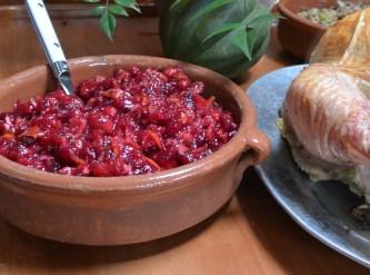 cranberry pecan relish served