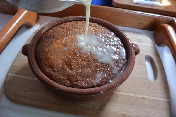 malva adding hot cream