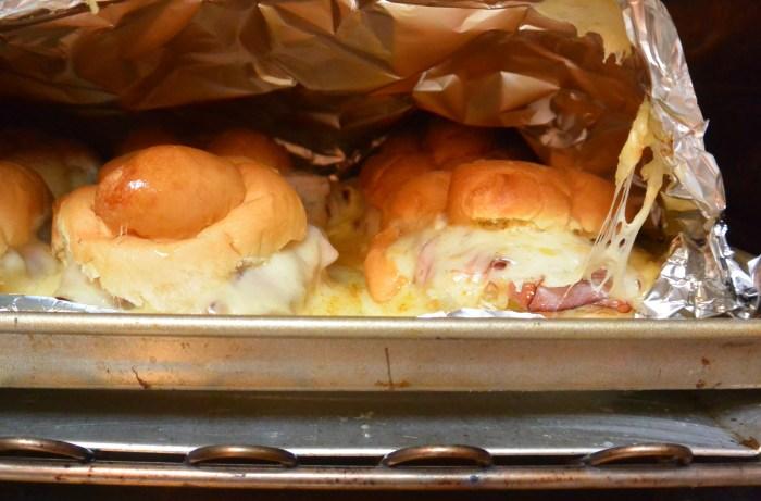 hot ham and cheese opening shot