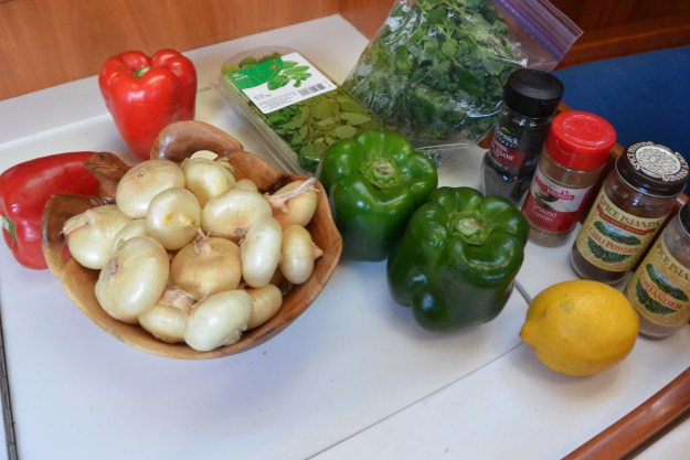 ingredients for India lamb with spring onions