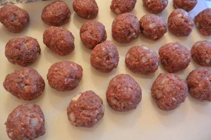 venison meatballs rolled