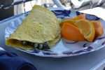 Asparagus Omelette with Jarlsberg Cheese Sauce