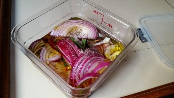 Onions in vinaigrette