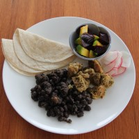Black beans and Pork Verde