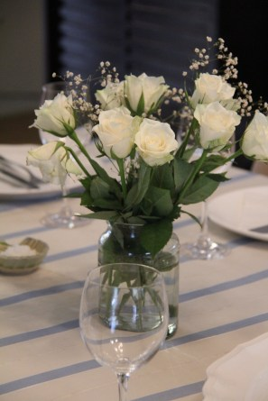 White roses from our guests. My favourites!