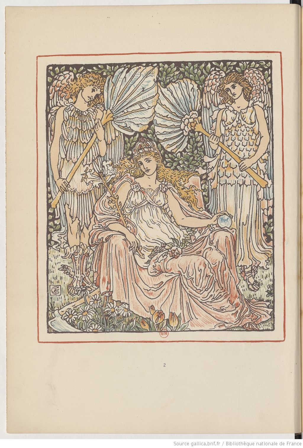 Queen Summer or the tourney of the Lily and the Rose... / penned & portrayed by Walther Crane | Gallica