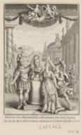 Honneurs rendus a la mémoire de Voltaire le jour de la premiere représentation de Brutus : [estampe] / [non identifié]