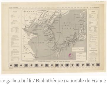 La guerre russo-japonaise - carte du théâtre des opérations