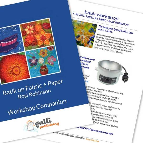 Image of Batik Workshop Resource Files - from Batik Workshop - Fun with Paper & Fabric featuring Rosi Robinson