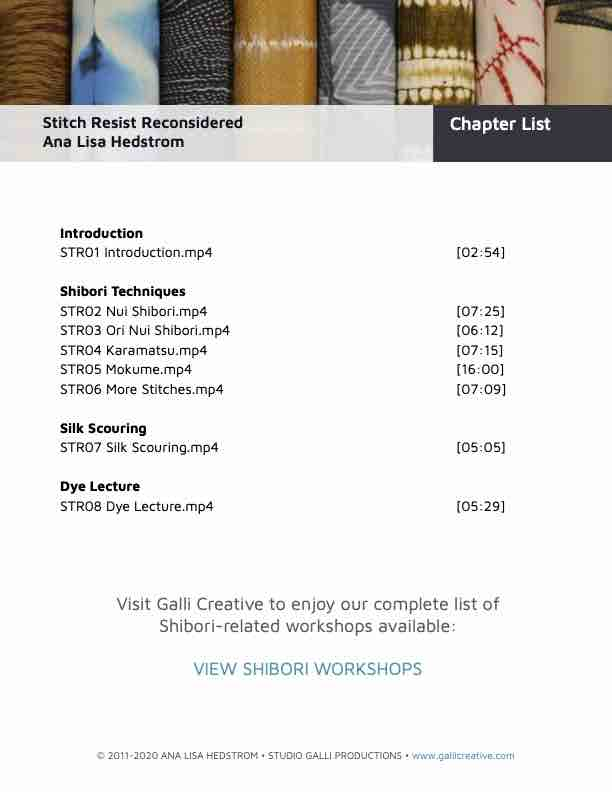 Str1.1 Stitch Resist Reconsidered Chapter List